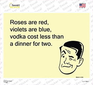 Roses Are Red Wholesale Novelty Rectangle Sticker Decal