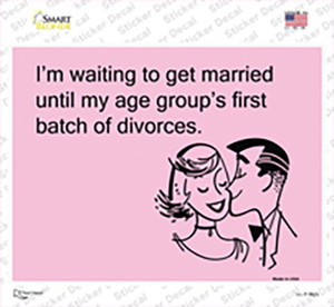 Im Waiting To Get Married Wholesale Novelty Rectangle Sticker Decal