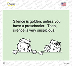 Silence Is Golden Wholesale Novelty Rectangle Sticker Decal