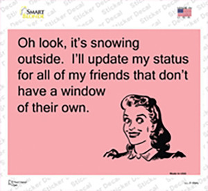 Oh Look Its Snowing Wholesale Novelty Rectangle Sticker Decal