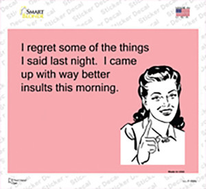 I Regret Some Things I Said Wholesale Novelty Rectangle Sticker Decal