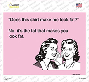 Does This Shirt Wholesale Novelty Rectangle Sticker Decal