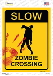 Zombie Crossing Wholesale Novelty Rectangle Sticker Decal