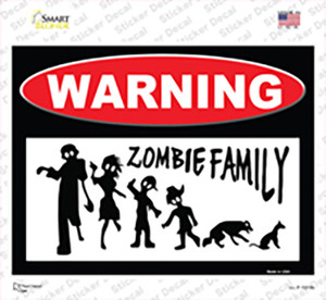 Zombie Family Wholesale Novelty Rectangle Sticker Decal