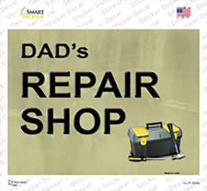 Dads Repair Shop Wholesale Novelty Rectangle Sticker Decal