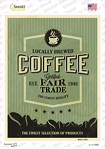 Coffee Wholesale Novelty Rectangle Sticker Decal