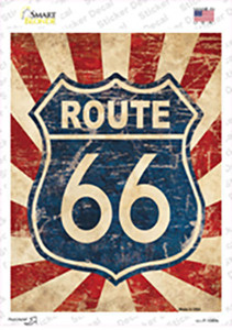 Vintage Route 66 Wholesale Novelty Rectangle Sticker Decal
