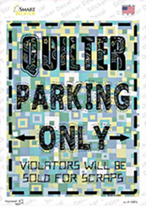 Quilter Only Scraps Wholesale Novelty Rectangle Sticker Decal