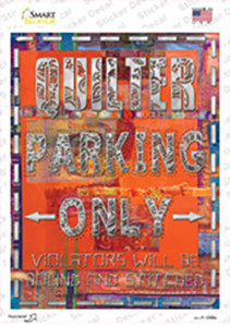 Quilter Only Orange Wholesale Novelty Rectangle Sticker Decal