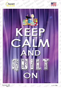 Keep Calm Quilt On Wholesale Novelty Rectangle Sticker Decal
