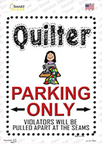 Quilter Only Wholesale Novelty Rectangle Sticker Decal