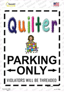 Quilter Only Threaded Wholesale Novelty Rectangle Sticker Decal