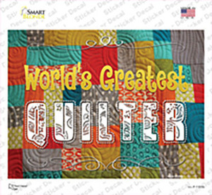 Worlds Greatest Quilter Wholesale Novelty Rectangle Sticker Decal