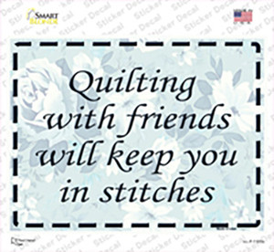 Quilting With Friends Wholesale Novelty Rectangle Sticker Decal
