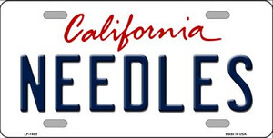 Needles California Novelty Wholesale Metal License Plate LP-1489