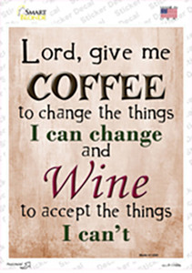 Give Me Coffee Wholesale Novelty Rectangle Sticker Decal