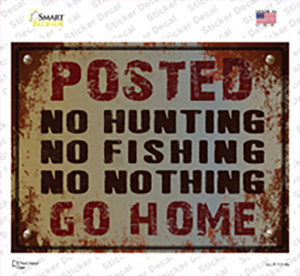 No Hunting No Fishing Wholesale Novelty Rectangle Sticker Decal