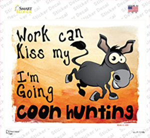 Going Coon Hunting Wholesale Novelty Rectangle Sticker Decal