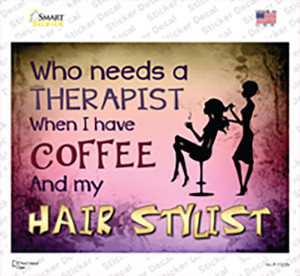 Coffee And Hair Stylist Wholesale Novelty Rectangle Sticker Decal