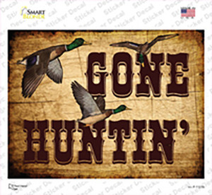 Gone Huntin Wholesale Novelty Rectangle Sticker Decal