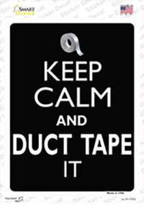 Keep Calm & Duct Tape It Wholesale Novelty Rectangle Sticker Decal