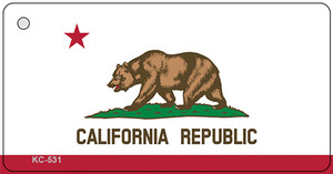 California State Flag Novelty Wholesale Key Chain KC-531
