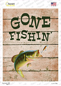 Gone Fishing Wholesale Novelty Rectangle Sticker Decal