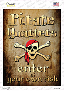 Pirate Quarters Wholesale Novelty Rectangle Sticker Decal
