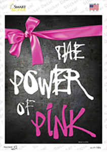 The Power Of Pink Breast Cancer Wholesale Novelty Rectangle Sticker Decal