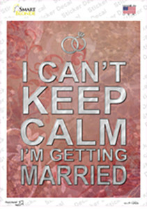I Cant Keep Calm Wholesale Novelty Rectangle Sticker Decal