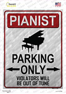 Pianist Parking Wholesale Novelty Rectangle Sticker Decal