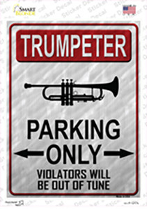 Trumpeter Parking Wholesale Novelty Rectangle Sticker Decal