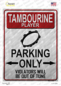 Tambourine Player Parking Wholesale Novelty Rectangle Sticker Decal