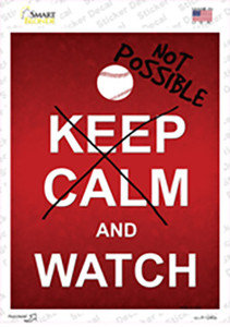 Keep Calm And Watch Wholesale Novelty Rectangle Sticker Decal