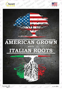 American Grown Italian Roots Wholesale Novelty Rectangle Sticker Decal