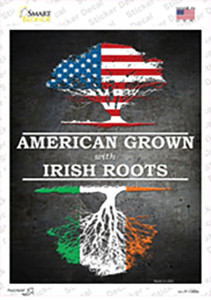 American Grown Irish Roots Wholesale Novelty Rectangle Sticker Decal