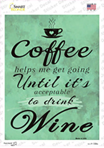 Coffee Helps Me Going Wholesale Novelty Rectangle Sticker Decal