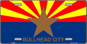 Bullhead City Arizona State Flag Wholesale Metal Novelty License Plate LP-1490