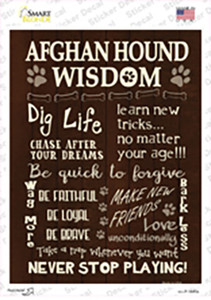 Afghan Hound Wisdom Wholesale Novelty Rectangle Sticker Decal