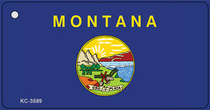 Montana State Flag Wholesale Novelty Key Chain KC-3589