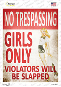No Trespassing Girls Only Wholesale Novelty Rectangle Sticker Decal