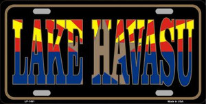 Lake Havasu Arizona State Flag Wholesale Metal Novelty License Plate LP-1491