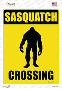Sasquatch Crossing Wholesale Novelty Rectangle Sticker Decal
