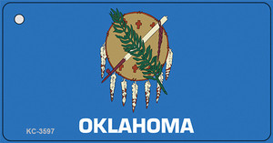 Oklahoma State Flag Wholesale Novelty Key Chain KC-3597