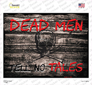 Dead Men Tell No Tales Wholesale Novelty Rectangle Sticker Decal