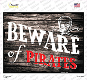 Beware of Pirates Wholesale Novelty Rectangle Sticker Decal