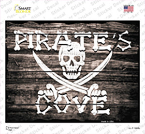 Pirates Cove Wood Look Wholesale Novelty Rectangle Sticker Decal