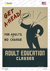 Adult Education Classes Wholesale Novelty Rectangle Sticker Decal