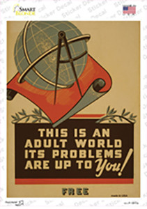 An Adult World Wholesale Novelty Rectangle Sticker Decal