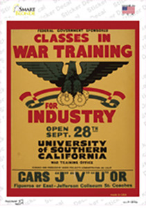 Classes in War Training Wholesale Novelty Rectangle Sticker Decal